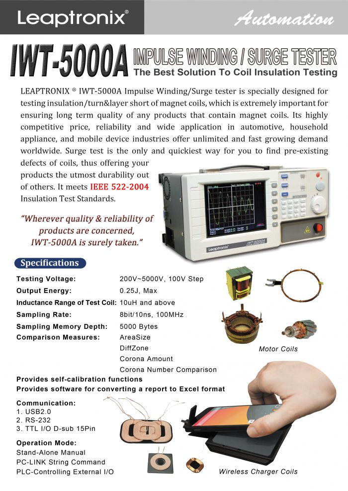 IWT-5000A surge tester impulse winding tester